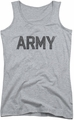 Army juniors tank top Star athletic heather
