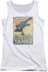 Army juniors tank top Treat Em Rough white