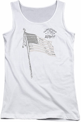 Army juniors tank top Tristar white