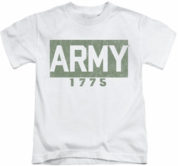 Army kids t-shirt Block white
