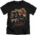 Army kids t-shirt Duty Honor Country black
