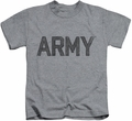 Army kids t-shirt Star athletic heather