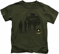 Army kids t-shirt Strong military green