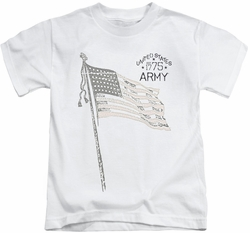 Army kids t-shirt Tristar white