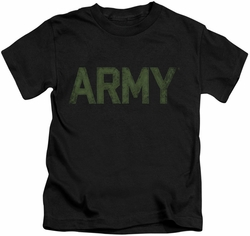 Army kids t-shirt Type black