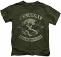 Army kids t-shirt Union Eagle military green