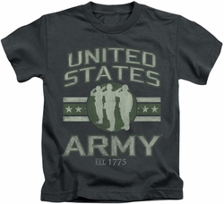 Army kids t-shirt United States Army charcoal