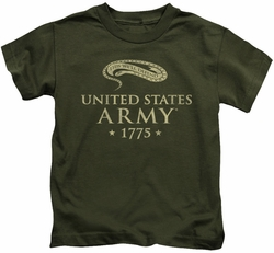 Army kids t-shirt We'll Defend military green