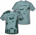 Army mens full sublimation t-shirt Airborne