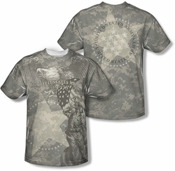 Army mens full sublimation t-shirt Country's Call