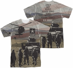 Army mens full sublimation t-shirt Values