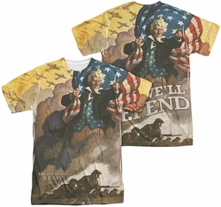 Army mens full sublimation t-shirt Vintage Poster