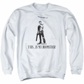 Army Of Darkness adult crewneck sweatshirt Boomstick White