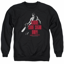 Army Of Darkness adult crewneck sweatshirt Sugar Black