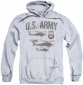 Army pull-over hoodie Airborne adult athletic heather