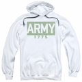 Army pull-over hoodie Block adult white