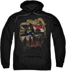 Army pull-over hoodie Duty Honor Country adult black