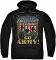 Army pull-over hoodie Go Army adult black