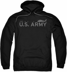 Army pull-over hoodie Helicopter adult black