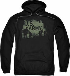 Army pull-over hoodie Soilders adult black