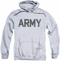 Army pull-over hoodie Star adult athletic heather