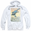 Army pull-over hoodie Treat Em Rough adult white