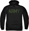 Army pull-over hoodie Type adult black
