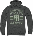 Army pull-over hoodie United States Army adult charcoal