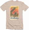 Army slim-fit t-shirt Action Poster mens cream/ivory