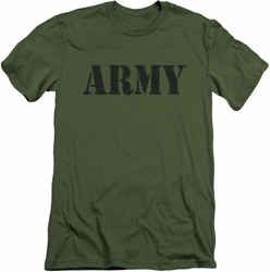 Army slim-fit t-shirt Army mens military green