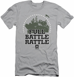 Army slim-fit t-shirt Full Battle Rattle mens silver