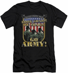Army slim-fit t-shirt Go Army mens black