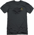 Army slim-fit t-shirt Left Chest mens charcoal