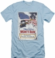 Army slim-fit t-shirt Pearl Harbor mens light blue