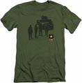 Army slim-fit t-shirt Strong mens military green