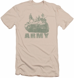 Army slim-fit t-shirt Tank mens cream