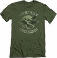Army slim-fit t-shirt Union Eagle mens military green