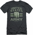Army slim-fit t-shirt United States Army mens charcoal
