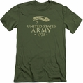 Army slim-fit t-shirt We'll Defend mens military green