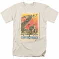 Army t-shirt Action Poster mens cream/ivory