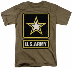 Army t-shirt Big Logo mens safari green