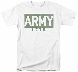 Army t-shirt Block mens white