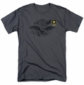 Army t-shirt Left Chest mens charcoal