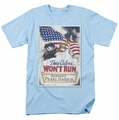 Army t-shirt Pearl Harbor mens light blue