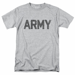 Army t-shirt Star mens athletic heather