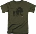 Army t-shirt Strong mens military green