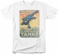 Army t-shirt Treat Em Rough mens white