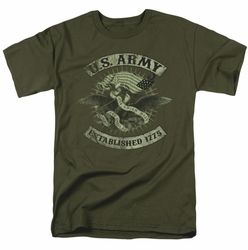 Army t-shirt Union Eagle mens military green