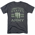 Army t-shirt United States Army mens charcoal