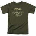 Army t-shirt We'll Defend mens military green